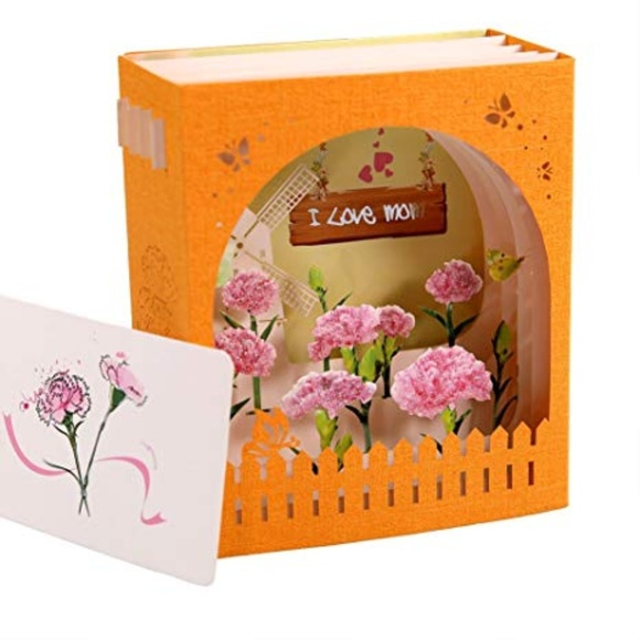 Independent Other - 3D I Love Mom Pop-Up Greeting Card, Laser Cut 🌸